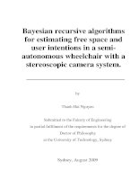 Bayesian recursive algorithms for estimating free space and user intentions in a semi autonomous wheelchair with a stereoscopic camera system
