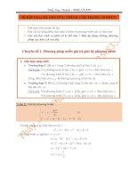 BÍ kíp GIẢI hệ PHƯƠNG TRÌNH  CHỈ TRONG 10 PHÚT