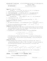 ĐỀ THI ĐÁP ÁN CHÍNH THỨC BỘ GIÁO DỤC VÀ ĐÀO TẠO MÔN TOÁN KHỐI A A1 B ĐẠI HỌC NĂM 2002 ĐẾN NĂM 2015
