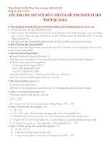 CÁC BÀI OXY SÁT VỚI MỨC ĐỘ CỦA ĐỀ THI THẬT KÌ THI  THPTQG 2016
