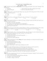 308 câu hỏi trắc nghiệm sinh học lớp 9 học kì 2 có đáp án