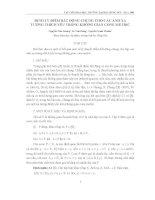 ĐỊNH LÝ ĐIỂM BẤT ĐỘNG CHUNG CHO CÁC ÁNH XẠ TƯƠNG THÍCH YẾU TRONG KHÔNG GIAN CONE METRIC