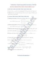 PT duong thang trong không gian Toán, Phương pháp giải các dạng toán thường gặp về đường thẳng trong không gian Oxyz