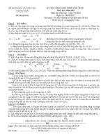 Tuyển tập đề thi chọn học sinh giỏi tỉnh môn hóa học lớp 9