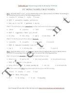 180 câu bài tập từ đồng nghĩa, trái nghĩa tiếng Anh hay đáp án giải thích