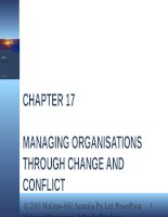 Lecture management  a pacific rim focus   chapter 17  managing organisations through change and conflict