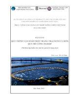 Bài giảng quy trình vận hành một trang trại nuôi cá biển quy mô công nghiệp (tài liệu tập huấn cho cán bộ quản lý trang trại)  phần 1   TS  lê xuân