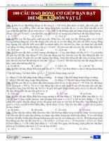 100 câu dao động cơ giúp học sinh đạt 8 điểm(CÓ ĐÁP ÁN) pdf