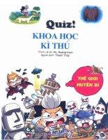 Ebook quiz khoa học kỳ thú  thế giới huyền bí   do, gi seong