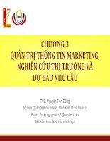 Quản trị thông tin marketing, nghiên cứu thị trường (nghiên cứu marketing), đo lường và dự báo nhu cầu thị trường