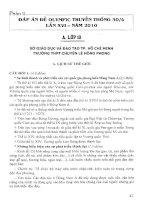 Ebook tuyển tập đề thi olympic (30 4 lần thứ XVI   2010) lịch sử  phần 2
