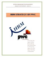 HRM STRATEGY OF PWC