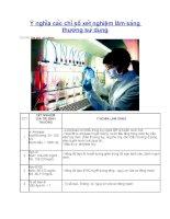 Ý nghĩa các chỉ số xét nghiệm lâm sàng thường sử dụng