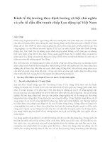 Kinh tế thị trường theo định hướng xã hội chủ nghĩa và yếu tố dẫn đến tranh chấp Lao động tại Việt Nam