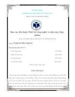 XÂY DỰNG LUẬN CHỨNG KINH TẾ  KỸ THUẬT NHÀ MÁY BIA