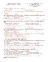 ĐỀ THI HỌC KÌ 1 HÓA 9 TRẮC NGHIỆM CHÍNH THỨC