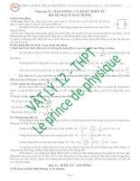 Luyện thi THPT quốc gia môn vật lý 2016 chương 4 dao động và sóng điện từ