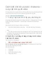 Cách kiếm tiền trên youtube với adsense