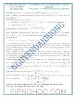 ĐỀ THI Trung học phổ thông quốc gia môn toán mới nhất