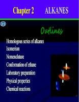 Bài giảng hoá học hữu cơ alkanes