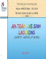 Bài giảng An toàn vệ sinh lao động