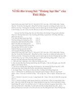 Về lối thơ trong bài Hoàng hạc lâu của Thôi Hiệu