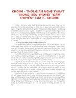 KHÔNG  THỜI GIAN NGHỆ THUẬT TRONG TIỂU THUYẾT ĐẮM THUYỀN CỦA R. TAGORE