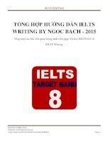 TONG HOP HUONG DAN IELTS WRITING BY NGOC BACH 2015
