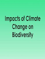 Bài giảng climate change and biodiversity