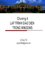 Chương 4 Lập trình giao diện trong windows phần 2