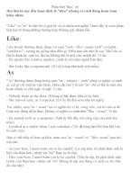 Phân biệt cách dùng LIKE và AS trong tiếng Anh