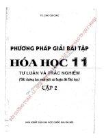 PHƯƠNG PHÁP GIẢI bài tập hóa học 11 tự LUẬN và TRẮC NGHIỆM   CAO cự GIÁC