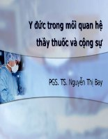 quan he thay thuoc dong nghiep y duc bs