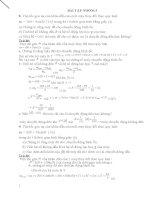 bài tập về ĐỘNG lực học cơ cấu
