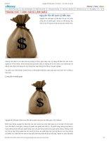 Nguyên tắc để quản lý tiền bạc   học cách làm giàu