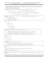 Tổng hợp các chuyên đề ôn tập thi THPT quốc gia môn toán (blogtoan)