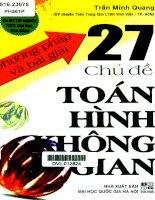 Bi Kiep TOAN HINH HOC KHONG GIAN LOP 12 Luyen thi dai hoc 2016