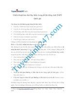 Chiến thuật làm bài Đọc hiểu trong đề thi tiếng Anh THPT Quốc gia