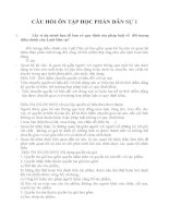 Đề cương ôn tập Môn Luật Dân sự 1