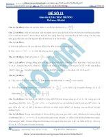 Đề số 11  đề thi thử thpt quốc gia 2016 môn toán, khóa pen i n2 thầy lê bá trần phương