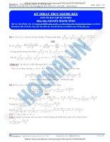 Kĩ thuật truy ngược dấu trong bất đẳng thức AM – GM