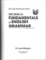 test banks for fudamental of  english grammar