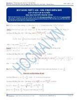 Kĩ thuật chọn điểm rơi trong bất đẳng thức AM – GM