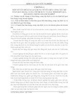 THỰC tế tổ CHỨC CÔNG tác kế TOÁN bán HÀNG, CUNG cấp DỊCH vụ và xác ĐỊNH kết QUẢ bán HÀNG tại TỔNG CÔNG TY CÔNG NGHIỆP tàu THUỶ NAM TRIỆU
