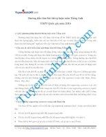 Hướng dẫn làm bài tự luận môn Tiếng Anh kỳ thi THPT Quốc Gia 2016