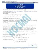 Đề số 12  đề thi thử thpt quốc gia 2016 môn toán, khóa pen i n3 thầy nguyễn bá tuấn
