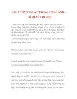 CÂU TƯỜNG THUẬT TRONG TIẾNG ANH  BÍ QUYẾT DỄ HỌC