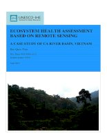 Ecosystem health assessment based on remote sensing a case study of ca river basin, vietnam