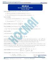 Đề số 12  đề thi thử thpt quốc gia 2016 môn toán, khóa pen i n2 thầy lê bá trần phương