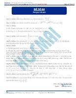 Đề số 04  đề thi thử thpt quốc gia 2016 môn toán, khóa pen i n3 thầy nguyễn bá tuấn